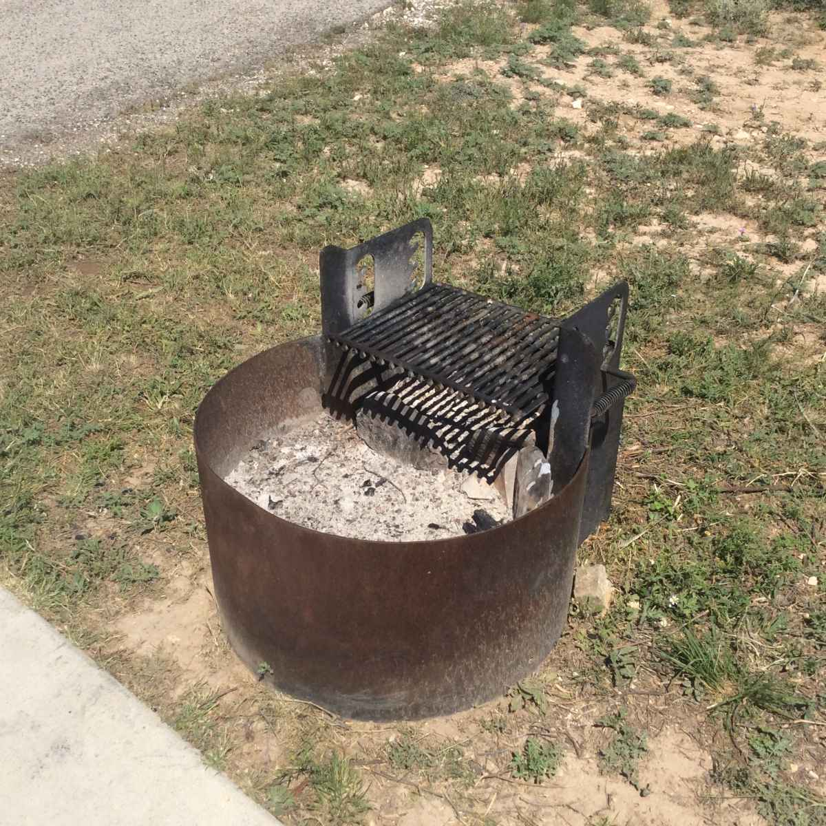 The fire ring at Campsite 44 is designed to be usable by people in wheelchairs.