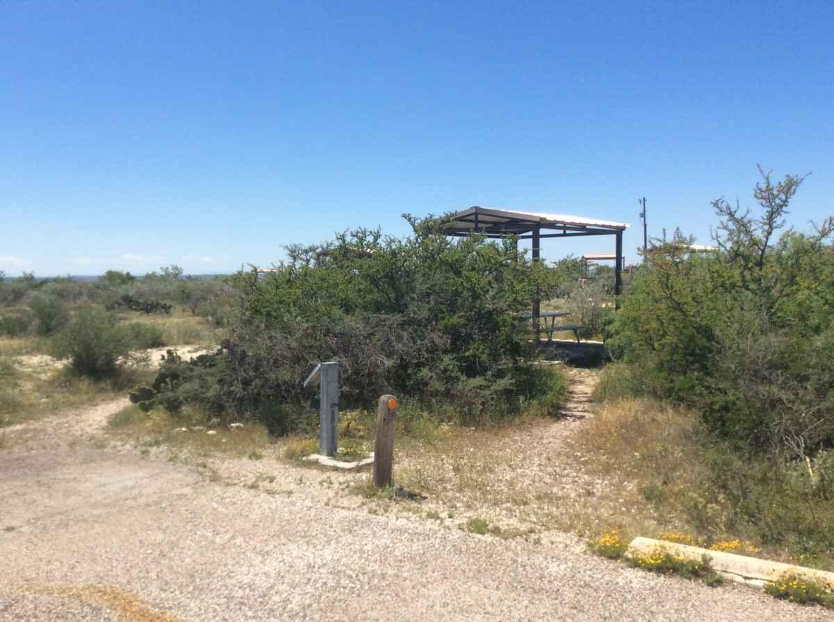 Campsite 12 in Desert Vista Camping Area.