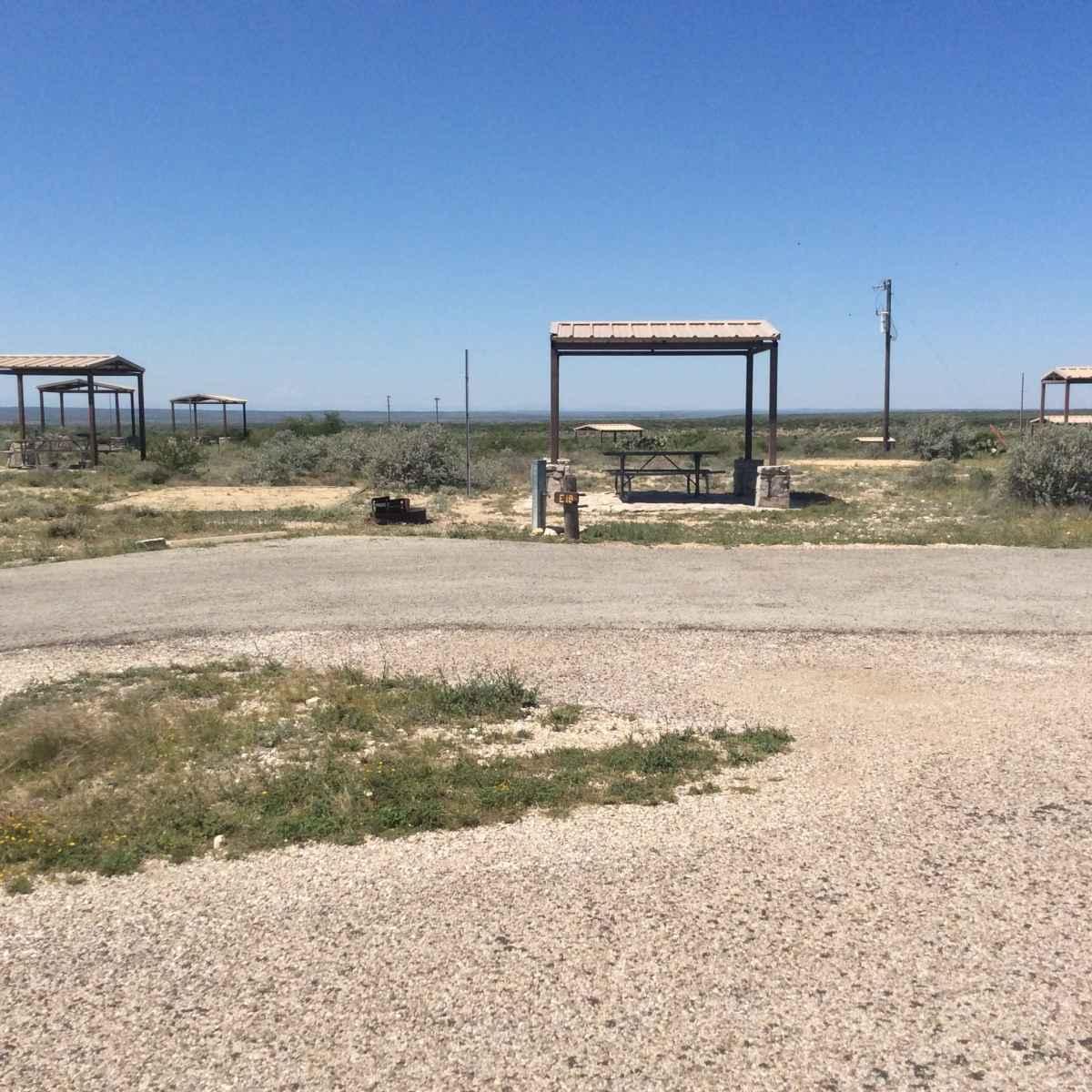 Campsite 18 in Desert Vista Camping Area.