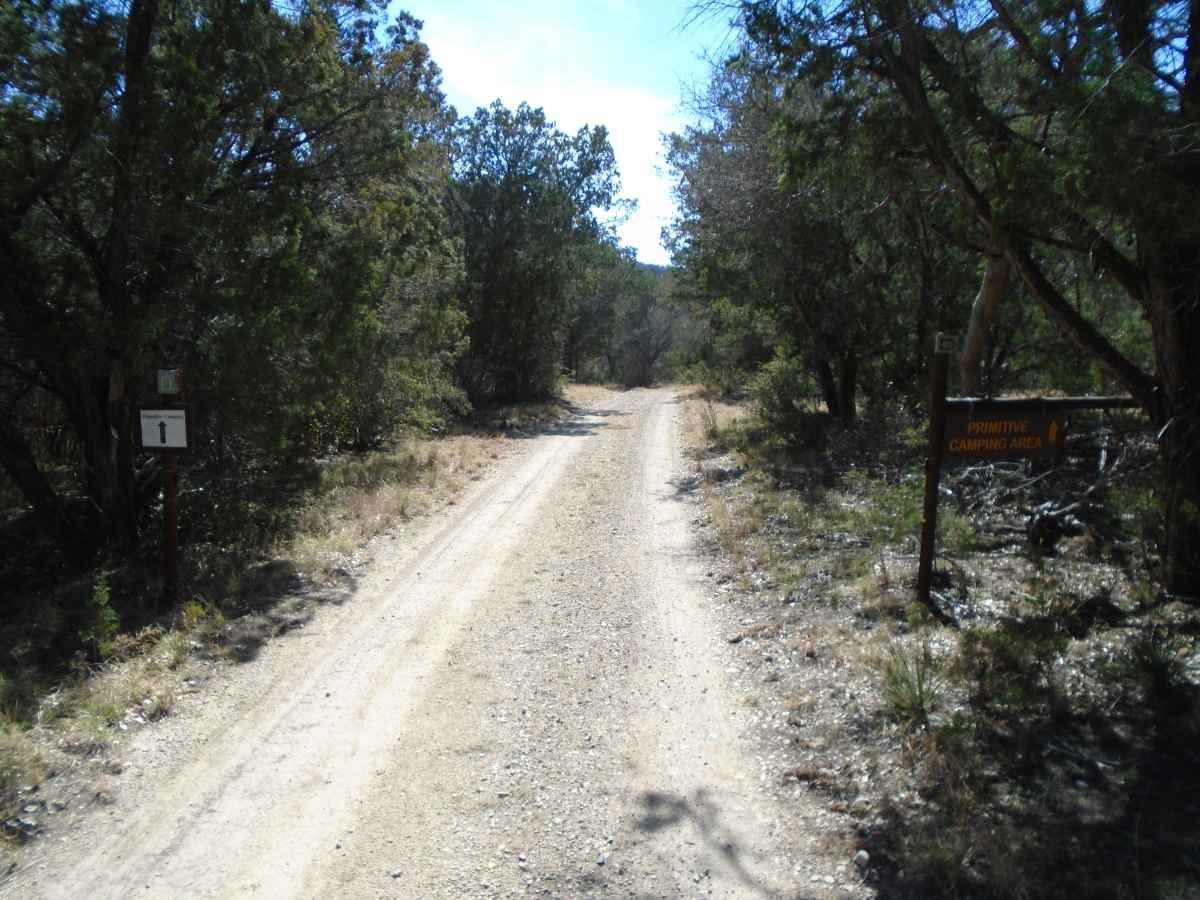 The trail to the Primitive Camping Area.