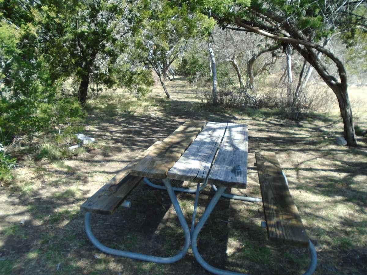 A primitive campsite.
