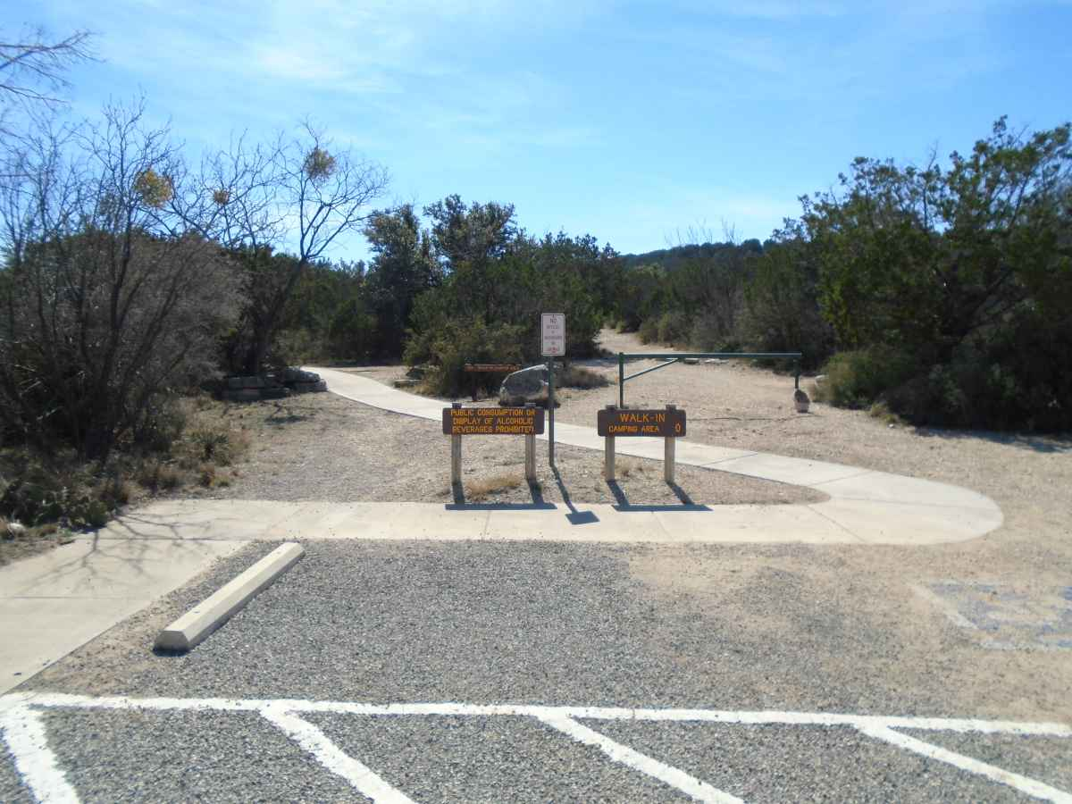 Walk-in Camping Area.