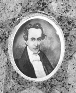 historic drawing of Stephen F. Austin
