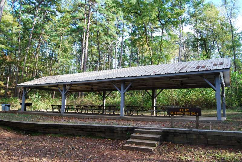 The Group Picnic Area 3 has a covered pavilion.
