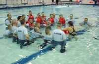 Game Wardens and Cadets in Swimming Pool