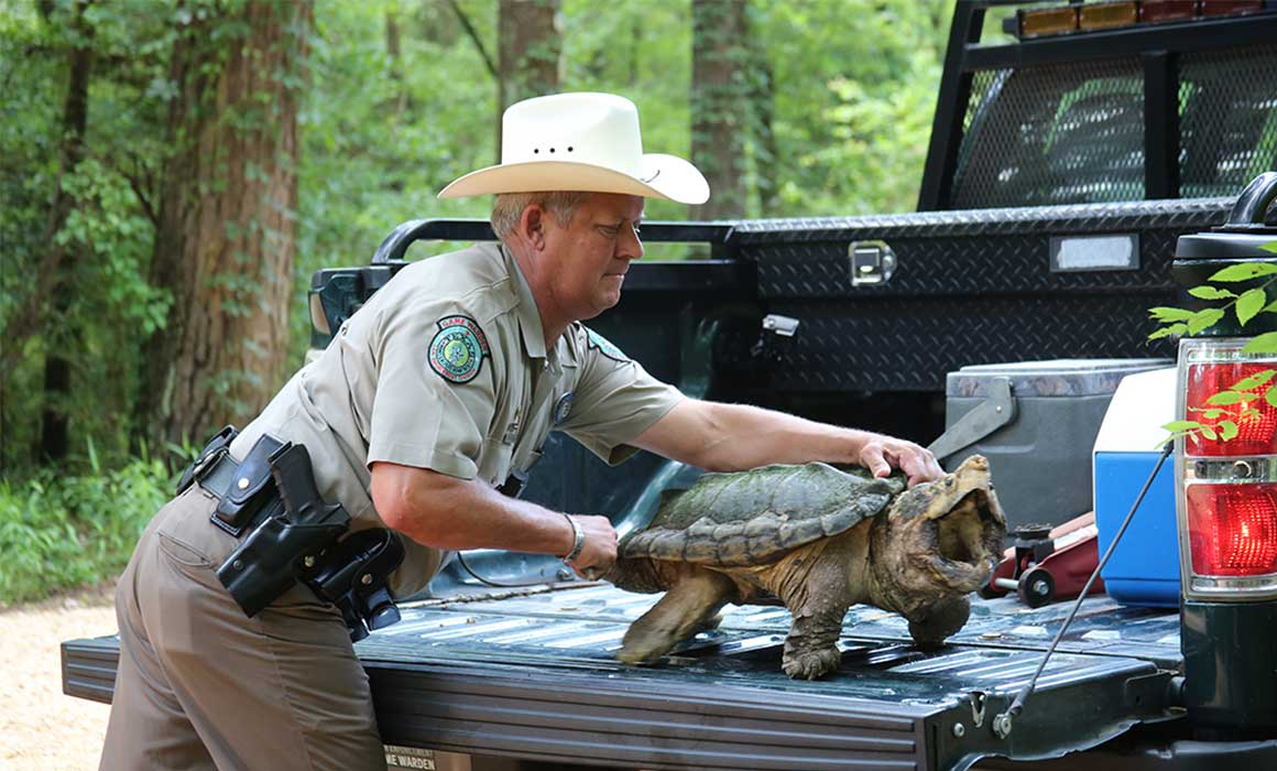 Game Warden and turle: Lone Star Law Television Series