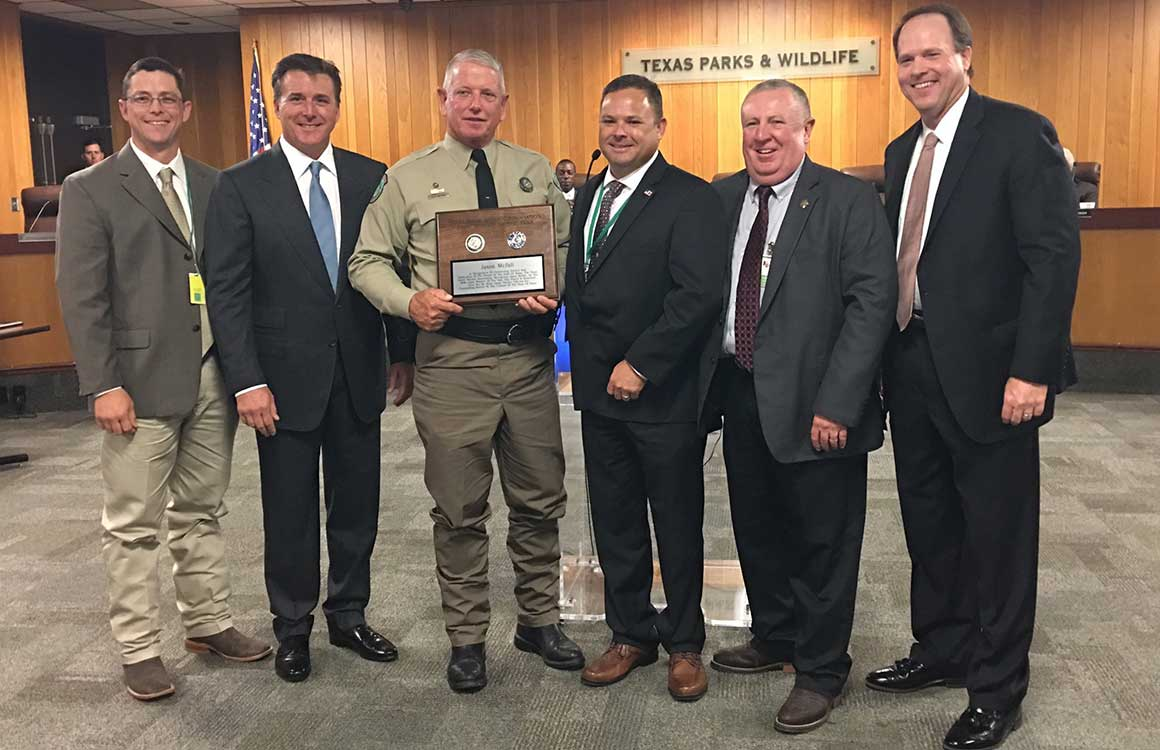 Texas Game Warden Association Warden of the Year - Warden Jason McFall